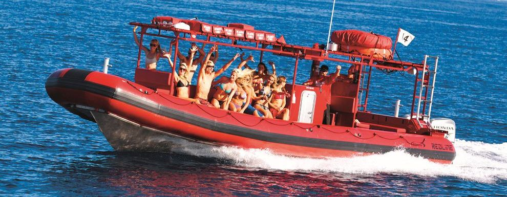 Fun is the name of the game on the Redline raft!