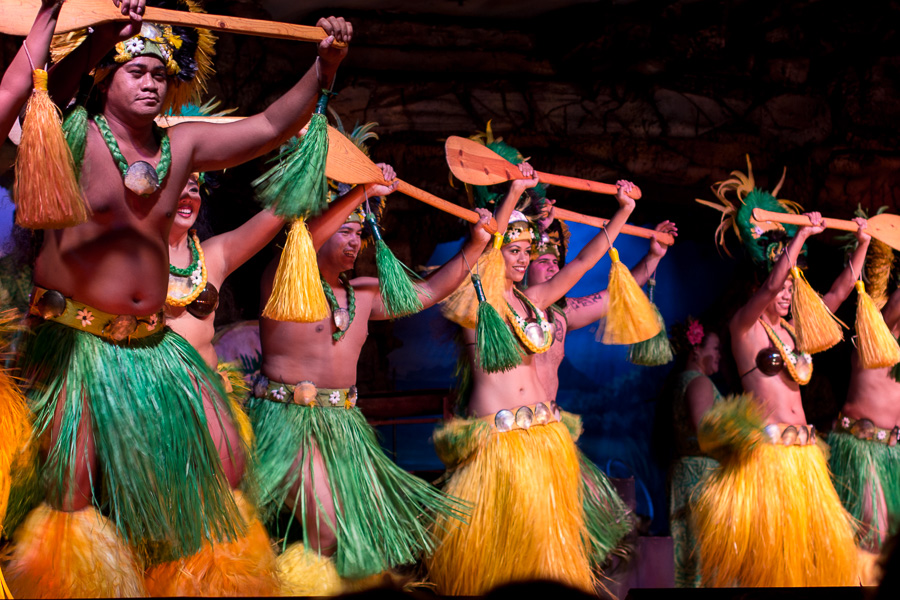 Dancers at the Drums of the Pacific Luau